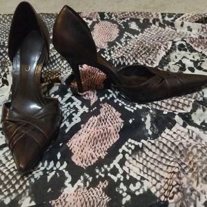 Brown stiletto heel